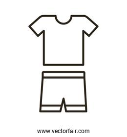 shirt and short uniform line style icon