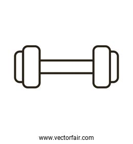 dumbbell weight lifting line style icon