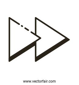 arrows right direction line style icon