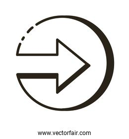 arrow right direction button line style icon