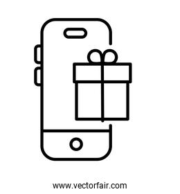 smartphone with gift payments online line style