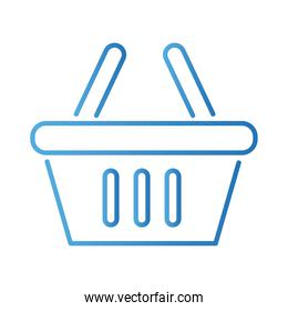 shopping basket gradient style icon