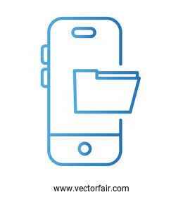 smartphone with folder payments online gradient style