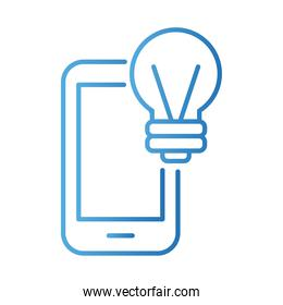 smartphone with bulb payments online gradient style