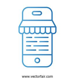 smartphone with parasol payments online gradient style