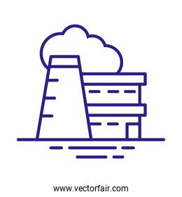 factory building line style icon