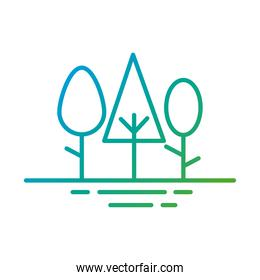forest trees plants gradient style icons