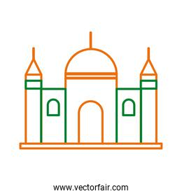 mosque muslim temple line style icon