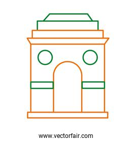 mosque arch line style icon