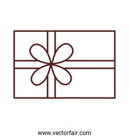 icon gift box present linear style