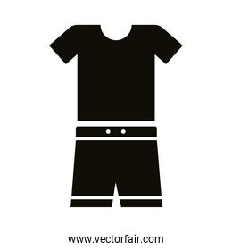 shirt and short uniform silhouette style icon