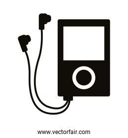mp3 music player device silhouette style icon