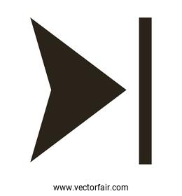 arrow right direction silhouette style icon