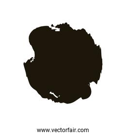 circular stain creative design with brush stroke silhouette style