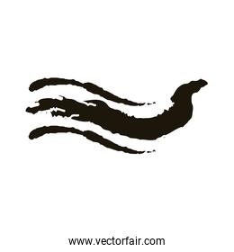 waves creative design with brush stroke silhouette style