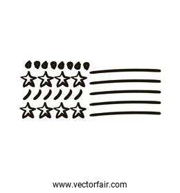 stars with points and lines creative design with brush stroke silhouette style