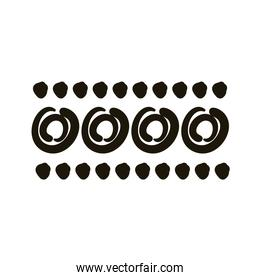 circles and points stain creative design with brush stroke silhouette style