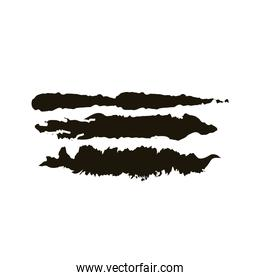 horizontal lines and waves creative design with brush stroke silhouette style