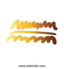 horizontal line and waves creative design with brush stroke degradient style