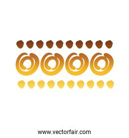 circles and points stain creative design with brush stroke degradient style