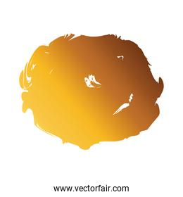 circular stain creative design with brush stroke degradient style