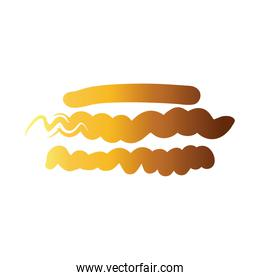 horizontal lines and waves creative design with brush stroke degradient style