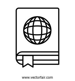 sphere browser in ebook line style icon