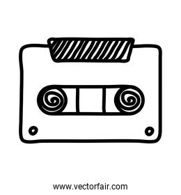 cassette music record line style icon