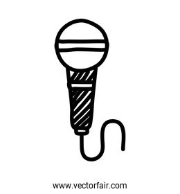 microphone sound audio line style icon