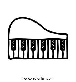 piano musical instrument line style icon