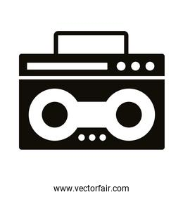 radio music player silhouette style icon