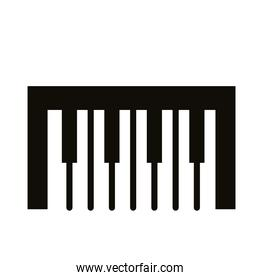 piano musical instrument silhouette style icon