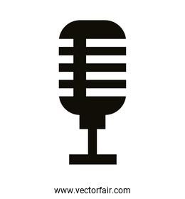 microphone sound audio silhouette style icon