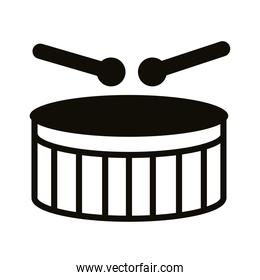 drum musical instrument silhouette style icon
