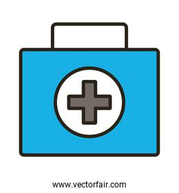 medicine drug kit line and fill style icon