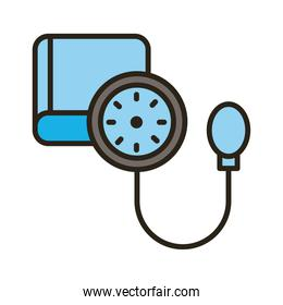 medical tensiometer tool line and fill style icon