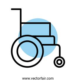 wheelchair disable line style icon