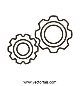 gears machine line style icon