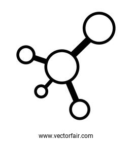 chemical bond icon, line style