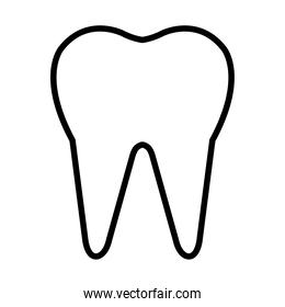 tooth icon image, line style
