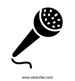 singer microphone icon, silhouette style