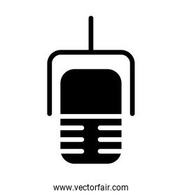 radio microphone icon, silhouette style