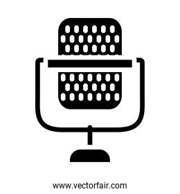 radio microphone icon image, silhouette style