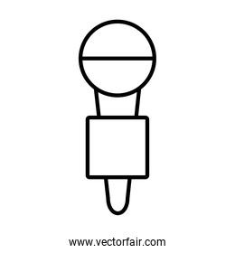 news microphone icon, line style