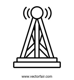 radio tower icon, line style