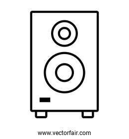 speaker bass icon, line style