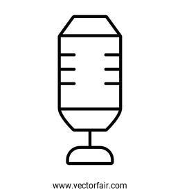squared microphone icon, line style