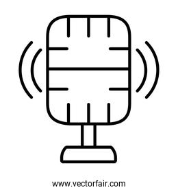 recording microphone icon, silhouette style