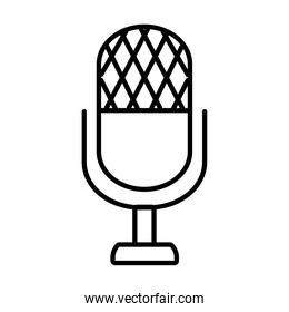 classic microphone icon, line style