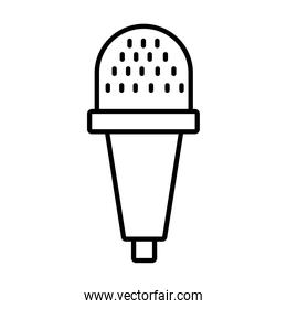 dynamic microphone icon, line style